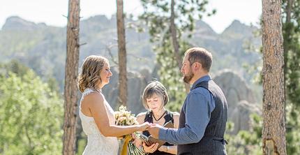 dan + chanda MARRIED!! Sylvan Lake elopement photography
